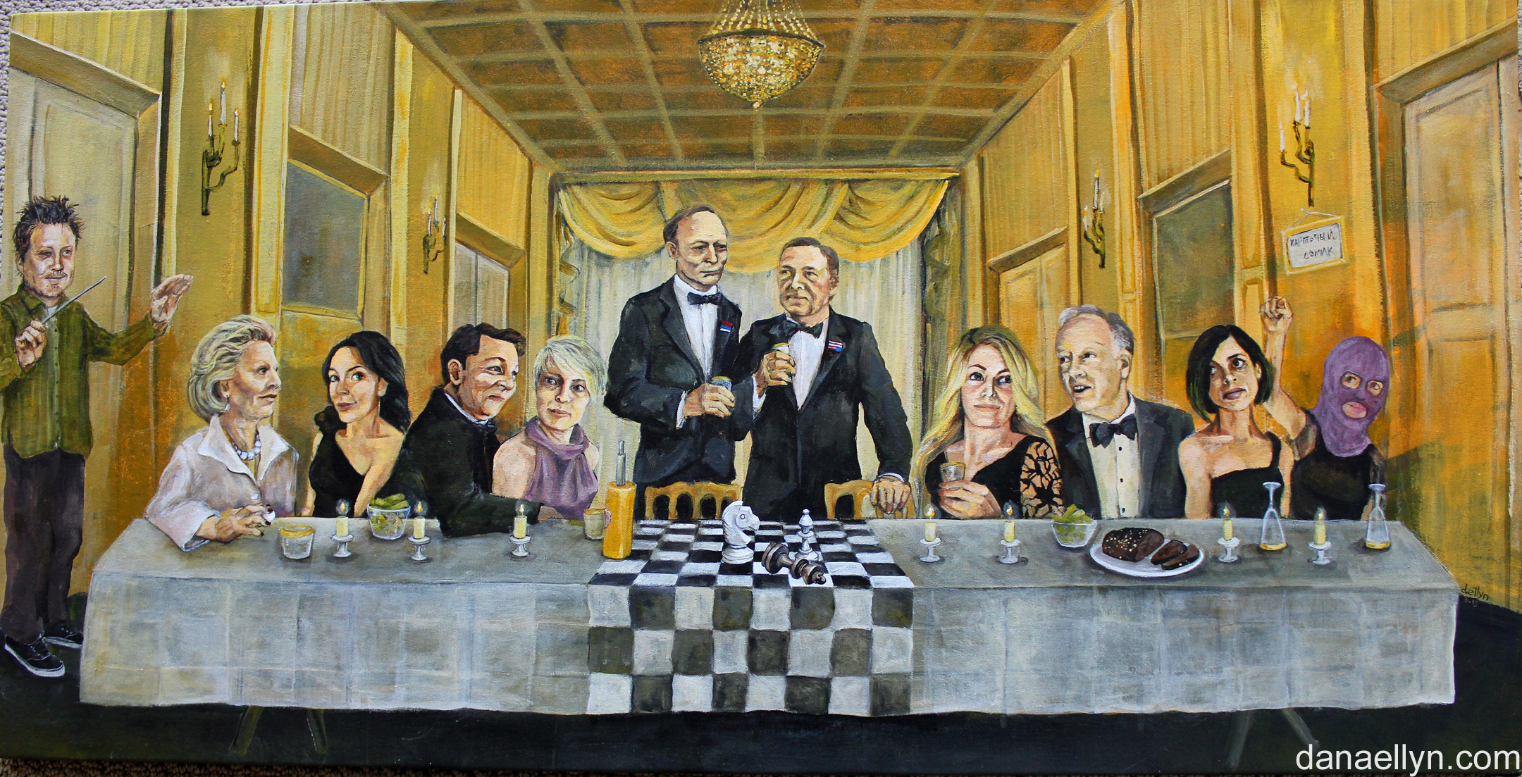House of Cards painting by DC artist Dana Ellyn House Cards