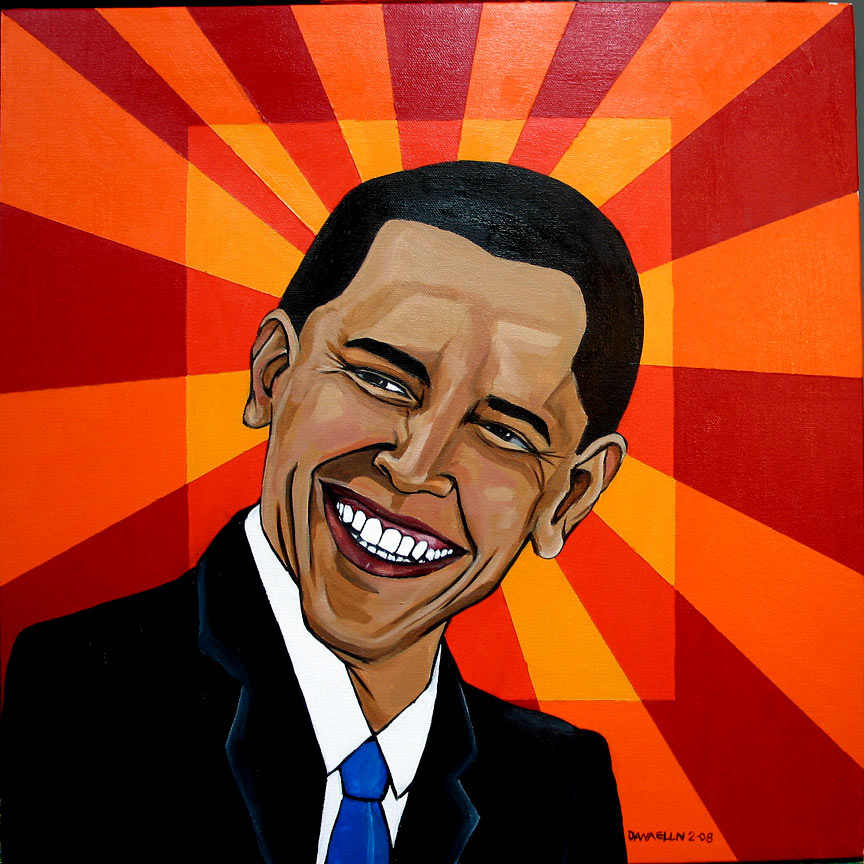 Barack Obama by Dana Ellyn